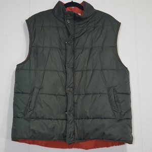 Prides Landing puffy vest green size L zip up